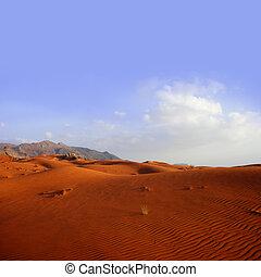 zand, landscape, -, woestijn, duin
