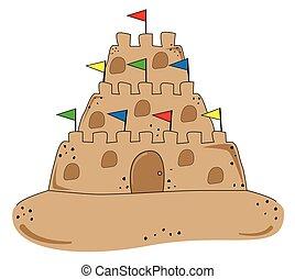 zand strand, kasteel