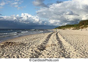 zand, van, strand