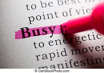 zaneprázdněný