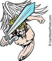 zangado, anjo