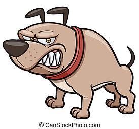 zangado, cão