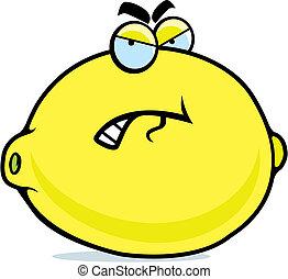 zangado, limão
