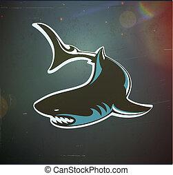 zangado, tubarão