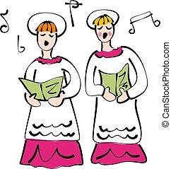zanggroep, kerk