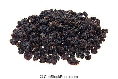 Zante currants - A small serving of zante currants on a ...
