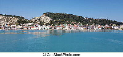 Zante town panorama from the sea