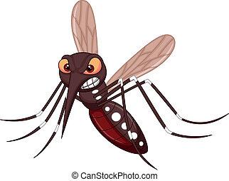 zanzara, cartone animato, arrabbiato