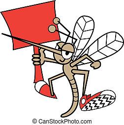 zanzara, presa a terra, segno