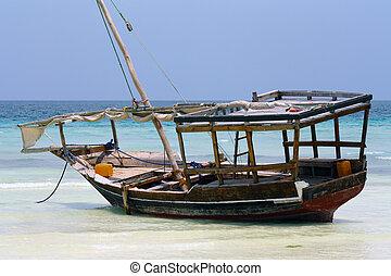 zanzibar, barco, nungwi: