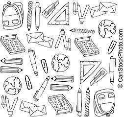 zaopatruje, sztubacy, doodles