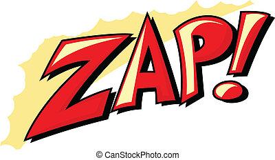 Zap - Comic Expression Vector Text Design