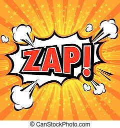 Zap! Comic Speech Bubble, Cartoon.