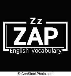 ZAP english word vocabulary illustration design