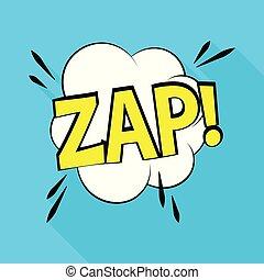 Zap icon, pop art style