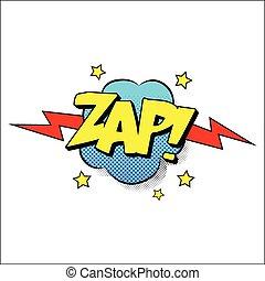 Zap sound effect illustration