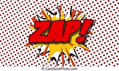 ZAP - word speech balloons comic style animation