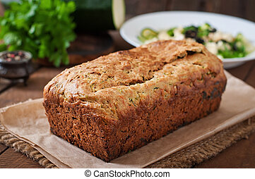 zapallitos, bread, con, queso