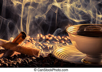zaparzył, smak, kawa, cynamon