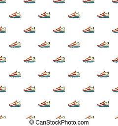 zapatillas, patrón, seamless