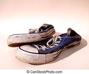 zapatillas, sucio, entrenadores, /