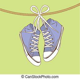 zapatillas, violeta
