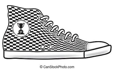 zapato corriente, primer lugar