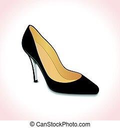 zapatos de taco alto, concepto