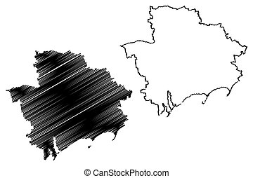zaporizhia, vetorial, oblast, mapa
