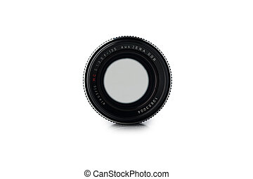 Zaporozhye, Ukraine - May 3, 2021: Lens Carl Zeiss 135?? isolated on white background.