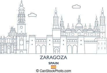 zaragoza, γραμμή ορίζοντα , ισπανία , πόλη