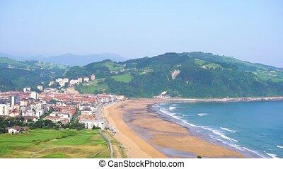 Zarauz, Pais Vasco, Spain - coast of Zarauz city at sunny...
