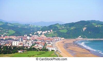 Zarauz, Pais Vasco, Spain - Zarauz at sunny summer day, Pais...