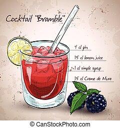 zarza, cóctel, alcohólico
