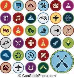 zasługa, symbole