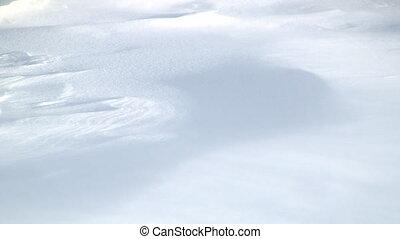 zaspa śnieżna, wiatr, scuplted