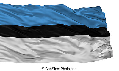 Zastava Pv City Flag, Montenegro, Isolated On White...