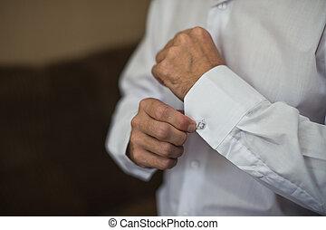 Zastegivaniye ???????? on a shirt.