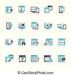 zastosowanie, software, programowanie, ikony