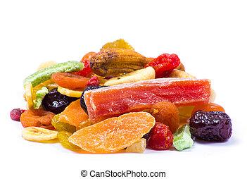 zasuszony, owoce