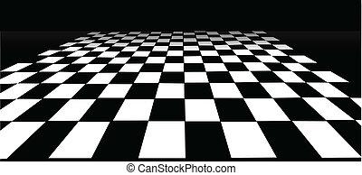 zaszachowana podłoga
