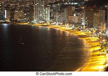 zatoka, acapulco, meksyk