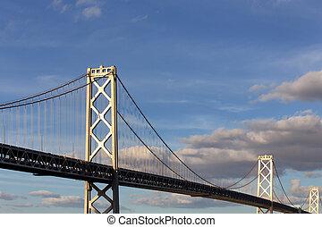 zatoka most, francisco, san, zmierzch