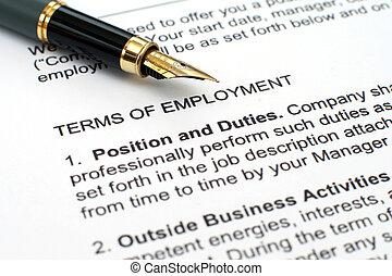 zatrudnienie, kontrakt