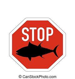 zatrzymajcie znaczą, tuńczyk