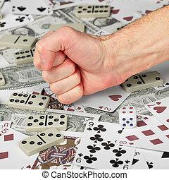 zatrzymywać, gambling!