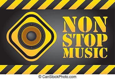 zatrzymywać, muzyka, nie