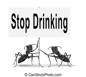 zatrzymywać, picie