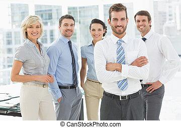 zaufany, handlowy, razem, drużyna