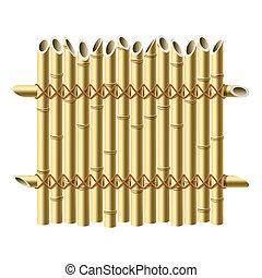 zaun, bambus